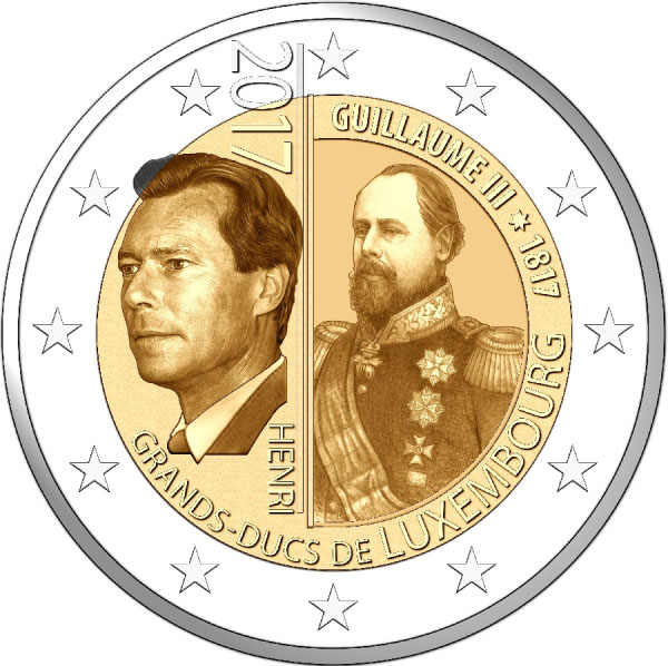 2 Euro Gold Commemoration Set Koning Willem III