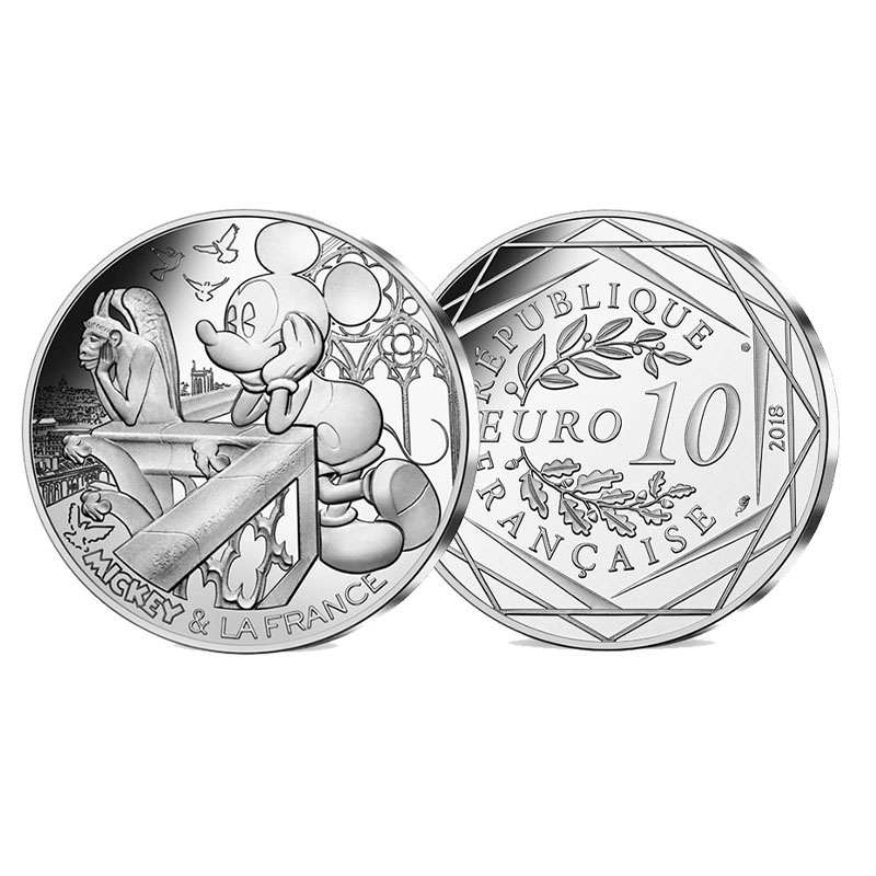 Munt 10 euro Mickey Mouse 2018 Notre Dame