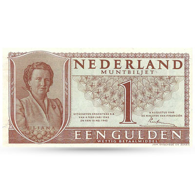 Bankbiljet 1 gulden 1949 Juliana UNC